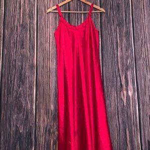 Vintage Oscar de la renta red slip nightgown